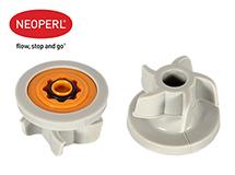 Водосберегающий регулятор расхода воды для душевой лейки Neoperl® PSW-02, 9 л/мин., оранжевый
