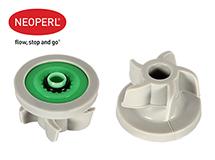 Водосберегающий регулятор расхода воды для душевой лейки Neoperl® PSW-02, 7 л/мин., зеленый