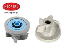 Водосберегающий регулятор расхода воды для душевой лейки Neoperl® PSW-02, 10 л/мин., голубой